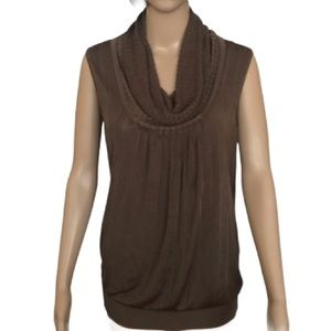 The Limited  shimmery bronze cowl neck top